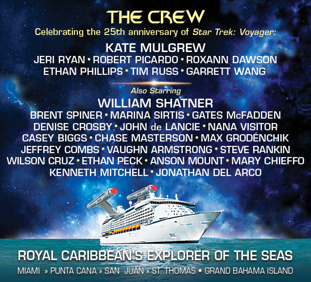 Star Trek The Cruise IV - Lineup + Book Now